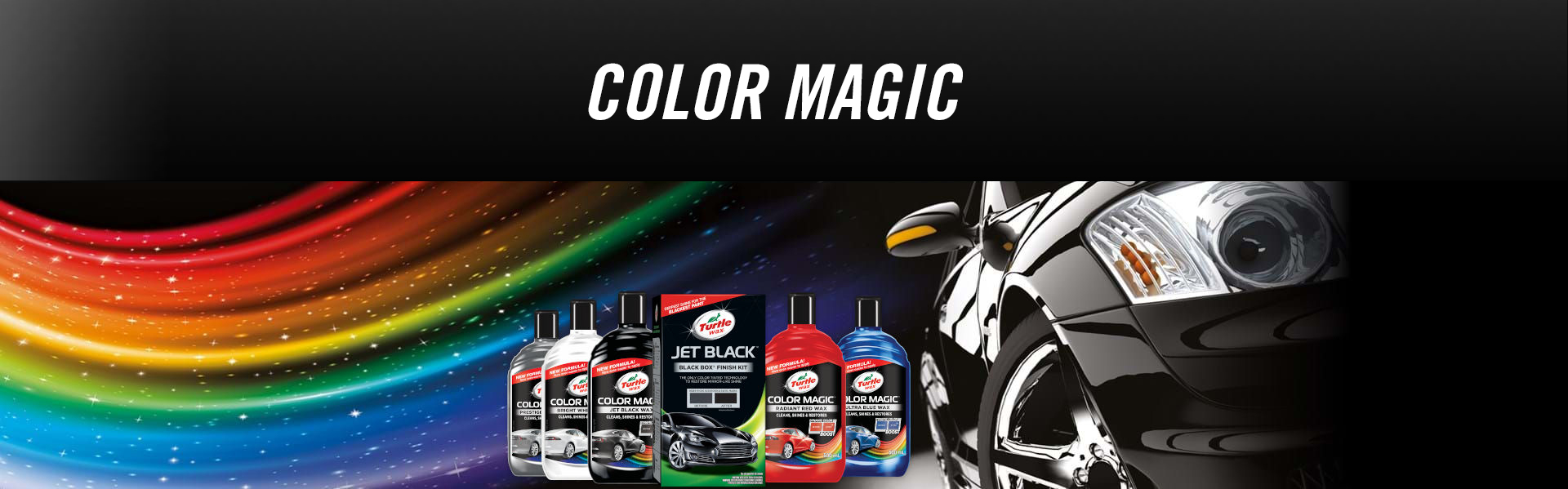 Turtle Wax color-magic banner
