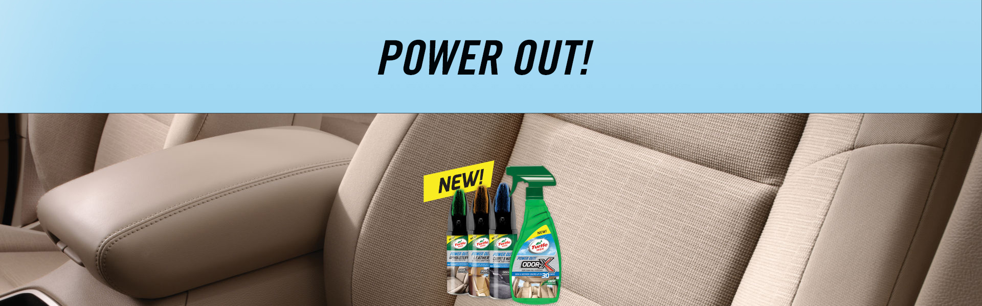 Turtle Wax power-out banner
